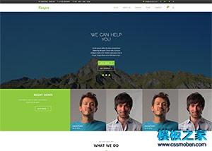扁平化设计公司bootstrap网站模板