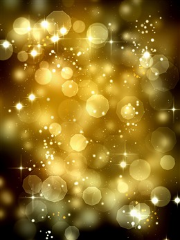 金色闪耀光斑粒子背景