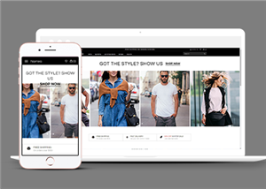 响应式服装网上商店网站模板