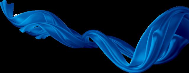 蓝色丝绸飘带