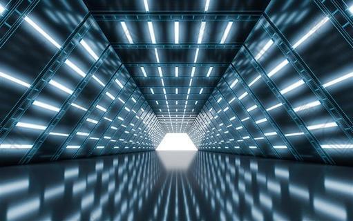 未来感科技空间隧道背景图