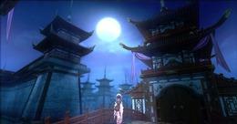月夜建筑场景