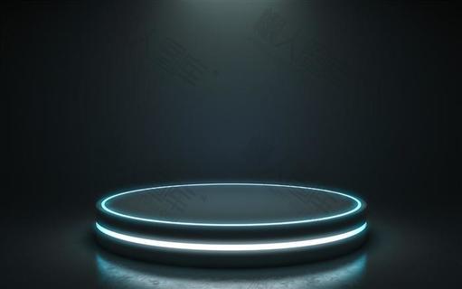 科技风圆形舞台背景