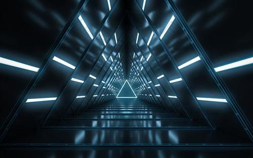 科技感深邃空间背景图