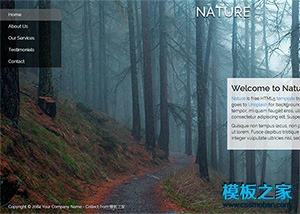 旅游景点响应式网站模板