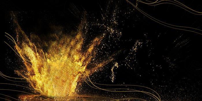 企业展板金色火焰背景图