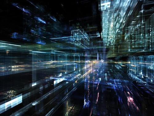 商务风3D空间背景图