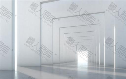 白色空间感未来科技背景