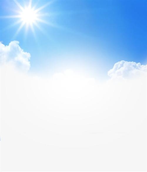蓝天白云自然风光