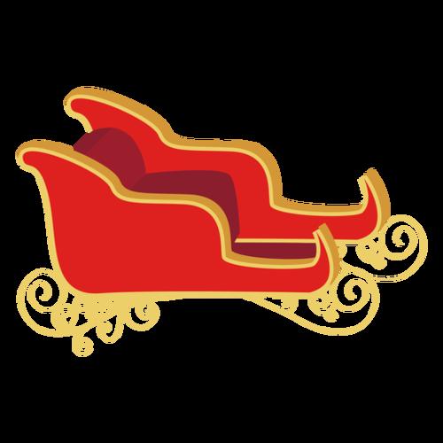 红色卡通圣诞雪橇车