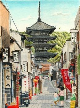 日本动漫街道图片