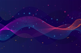 光点曲线背景图