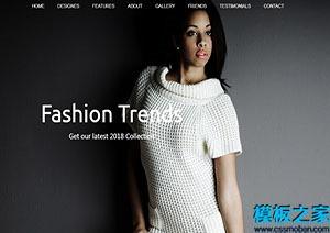 flashion欧美时装设计web模板