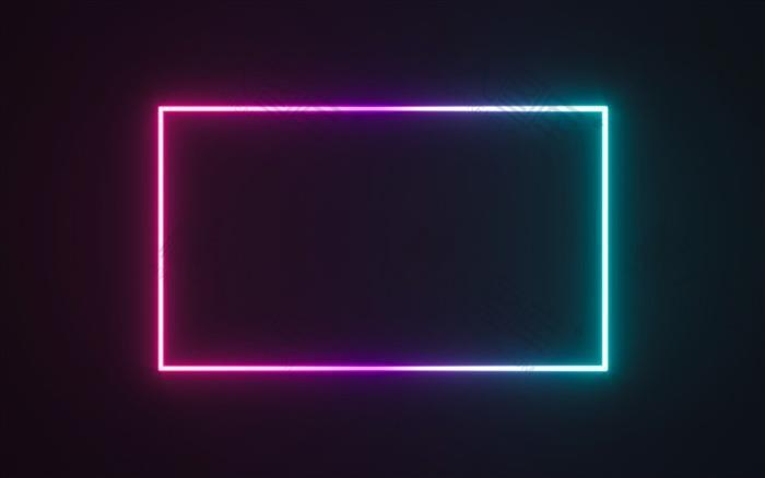 霓虹灯条黑色背景图