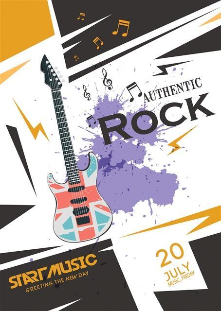 摇滚乐队音乐会海报