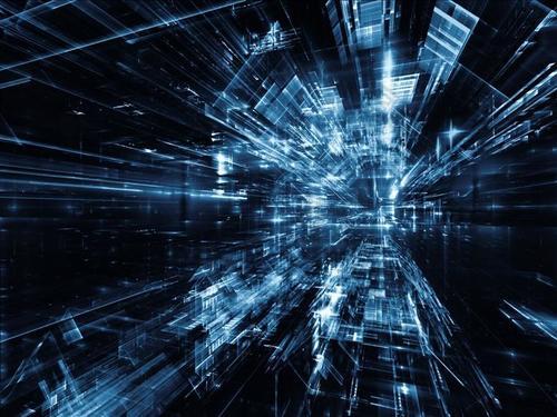 商务科技三维背景