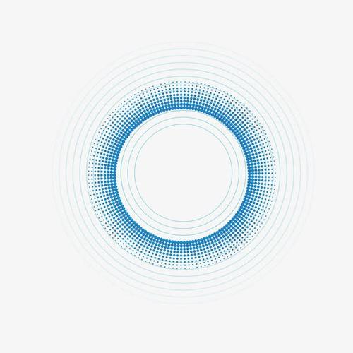 蓝色波点光效
