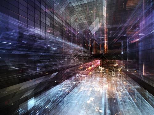 城市科技风背景图