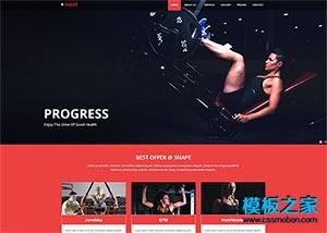 健美网站模板