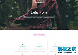 美容化妆品企业网站模板