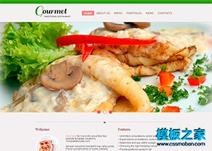 html5美食西餐厅网页模板