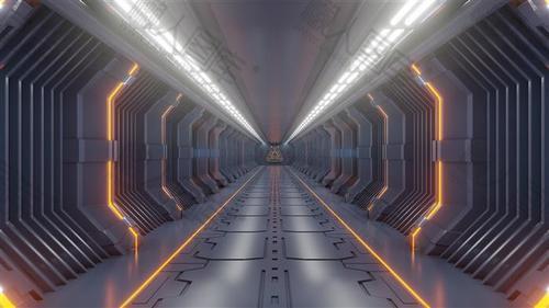 太空舱隧道背景图