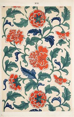 中国民族花纹背景