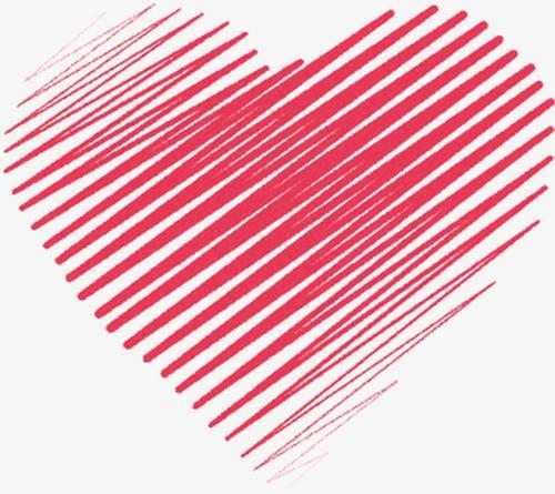 线条爱心图片
