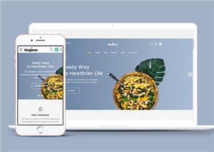 农产品有机食品商店网站模板