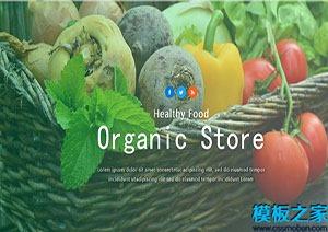 绿色有机蔬菜webstore网站模板