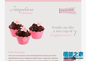 html制作甜点美食网站模板