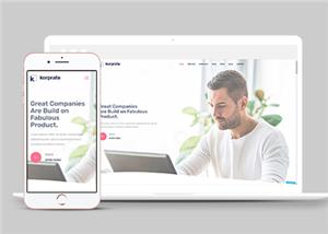 室内设计公司单页网站模板