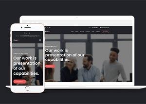 企业商务会议网页设计