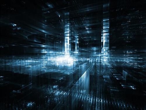 科技未来感城市背景图