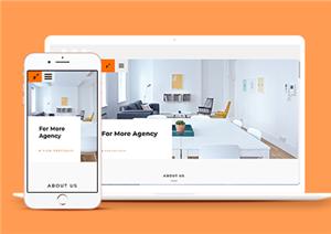 室内设计投资组合网站模板