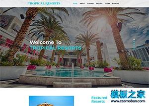 三亚度假酒店网站模板