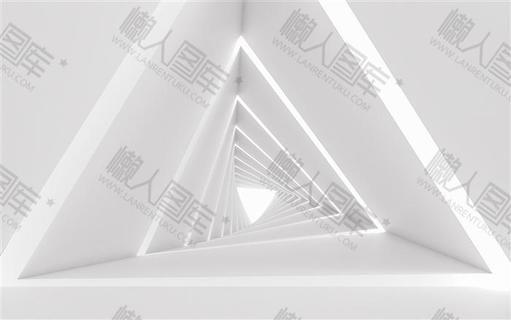 白色空间感三维科技背景