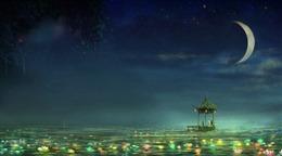 莲塘月夜壁纸