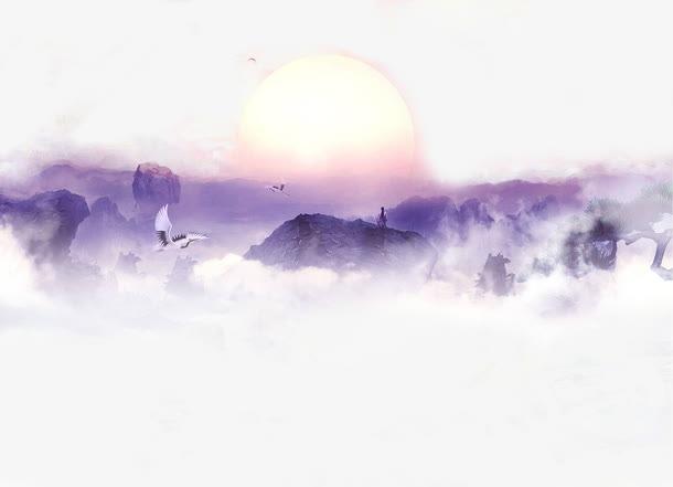 日出云层风景画