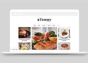 网上餐厅快捷菜单网站模板