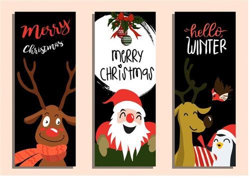 圣诞节海报装饰