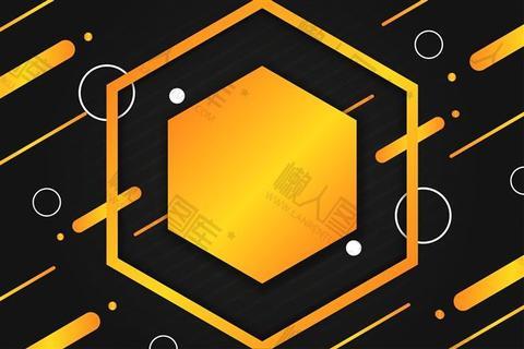 几何简约电商背景