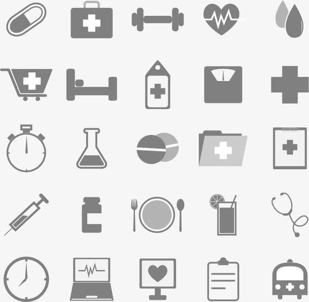 医院创意图标