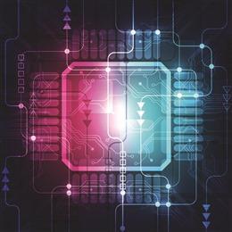 科技电路板炫彩背景
