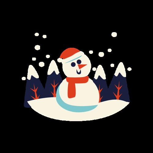 圣诞节卡通雪人图片