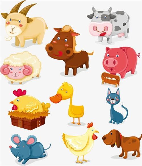卡通家养动物图片