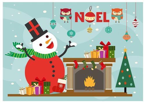 简单手绘圣诞贺卡