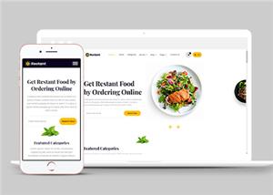 美食外卖在线点单网上小程序网站模板