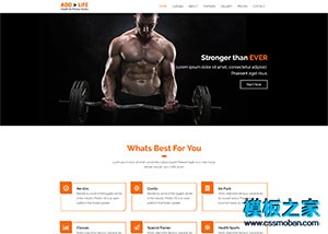 健身器材企业网站模板