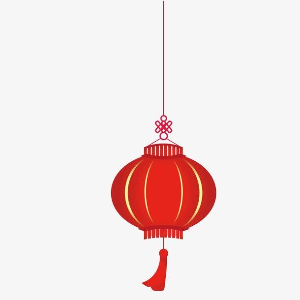 矢量红灯笼挂饰